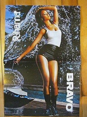 Rihanna, Two Page Centerfold Poster Pinup, Foreign Magazine