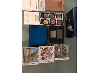Nintendo 2DS with 3 games and case