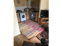 Huge striped coloured rug - Brand new