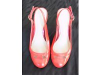 Red sling back shoes (size 5)