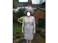 Gorgeous John Charles Mother of the Bride/Groom outfit, size 14. Hat also available.