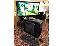 Full set gaming PC 4th gen i3 GTX 760 1080 monitor SSD + HDD 8GB RAM MOUSE KEYBOARD