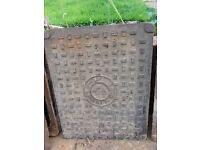 Old style cast iron baberton manhole covers X 3