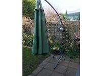 garden umbrella and swing
