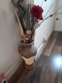 Bargain. Large vase and flowers only £6