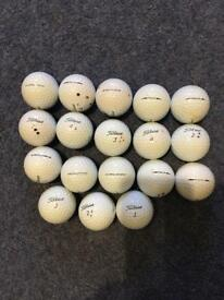 Titleist Pro v1 used golf balls.