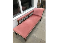 Chaise Longue with Oak Frame , in good condition.