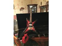 X.Factor elec Guitar.in a hard case.