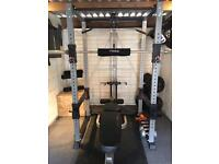 Bodymax complete home gym with power rack, weights and bench