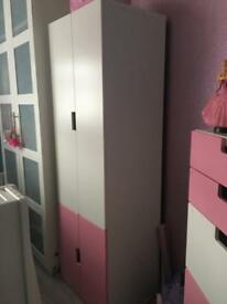 Girls IKEA wardrobe