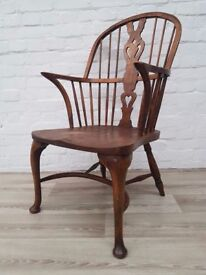 Elm Windsor Armchair (DELIVERY AVAILABLE FOR THIS ITEM OF FURNITURE)