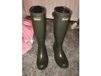 Barbour Wellies size 6 Adult