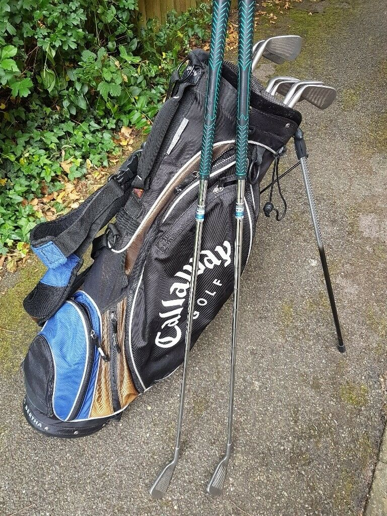 Golf bag and set of irons for salein Binfield, Berkshire - Golf stand bag and set of irons 4,5,6,7,8,9,PW,SW and putter. All in reasonable condition