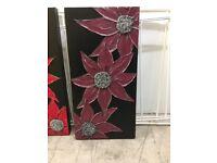 Handmade Black & Plum Canvas