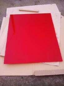 Red glass cooker splashback panel