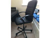 Swivel chair for home office TORKEL. Bomstad black (IKEA)