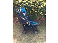 Silver cross pop pushchair stroller with rain over and seat liner