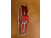 HyperX FURY 8 GB DDR3 1866 MHz CL10 DIMM Memory Module - Red