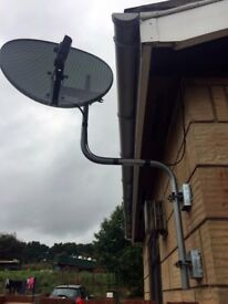 SKY Dish with Swan / Cranked Neck Mounting Bracket