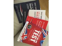 Life in UK books with practice tests. All books new and very sparingly used