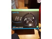 Logitech G920 Steering wheel boxed and new