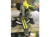 "Ryobi EMS254L Compact Sliding Mitre Saw with Laser Guide 254mm / 10"" Blade 2000w"