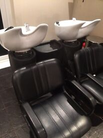2 Hairdressing Back Washers Units FOR SALE