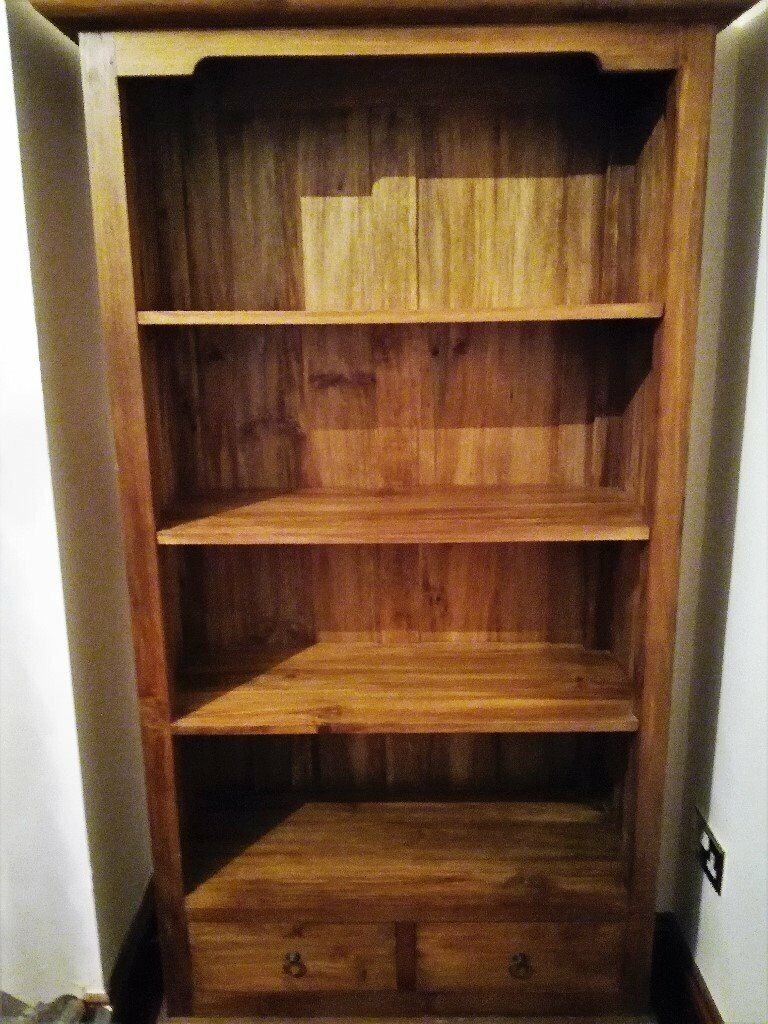 Terrific New Antique Pine Solid Wood Book Case Rustic Tall 4 Shelf 2 Drawer Size 71 5 X 40 5 X 17 Inches In Canterbury Kent Gumtree Download Free Architecture Designs Remcamadebymaigaardcom