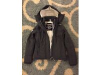 Womens Superdry Hooded Sherpa Quilted Windcheater Jacket
