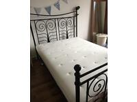 Ikea double bed with free mattress, fitted sheet and pillowcases!! SOLD - AWAITING COLLECTION