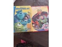 Monsters inc and toy story read along cds