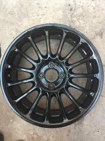 """black 15 spoke used Alloy wheels 17"""" inch x 7j 4x100 alloys wheel"""