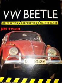 VW beetle restoration book and Haynes workshop manual book