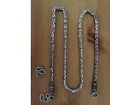 """Solid Silver Byzantine Thai Style Chain/Necklace. 23"""". 4/5mm. 60g."""