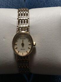 Ladies 9ct Gold Accurist wrist watch excellent condition