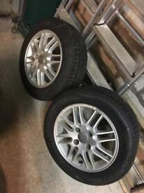 "2 x Ford 15"" alloys. great tred !"