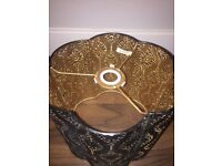 Vintage style light shades in black and gold , never used