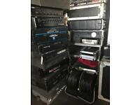 Various flightcases, power amps, pa speakers and loads of other bits and pieces available
