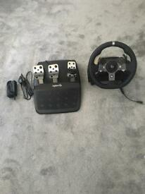 Logitech steering wheel & pedals XBOX ONE