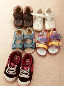 Size 6 and 7 girls shoes and sandals
