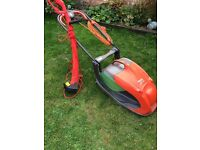 Large Flymo 360 glide and strimmer