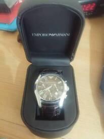 Emporio Armani mens leather watch