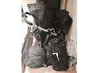 iCandy Apple 2 Pear Black Travel System Double Twin Seat Stroller Pushchair