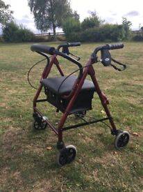 Walking Aid Rollator with Seat