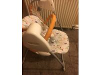 Battery operated baby seat swing