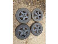 Peugeot 106 XSi Mk1 alloys with tyres