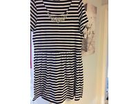 Ladies black and white stripped dress