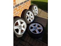 4 Alloy wheels, removed from mark 4 VW golf.