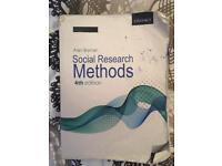 Research methods book by Bryman 2012