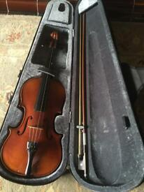Full size Violin with extras in hard shell carry case